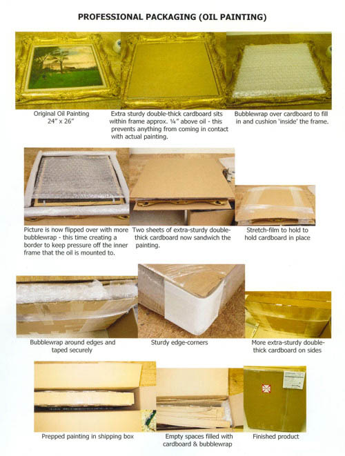 Oil Painting Packaging Example